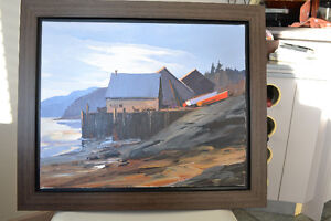 CHRISTIAN BERGERON OIL ON CANVAS PAINTING MINT CONDITION