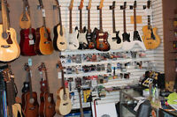 Musical Instruments. Service.Gear Rentals. OPEN SUNDAYS.
