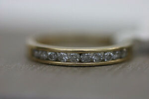 Perfect 14k Yellow Gold 10 Diamond Ring Sz 7 (#1281)