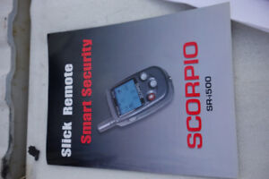 Scorpio SR-i500 Motor cycle security & Alarm System