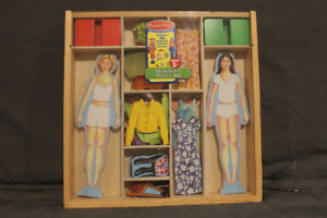 Melissa & Doug Wooden Dress Up Dolls w/ magnets