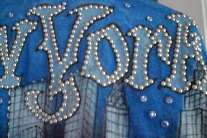 Veste de jeans NEWYORK peint à la main UNIQUE/Faites votre offre Saguenay Saguenay-Lac-Saint-Jean image 8
