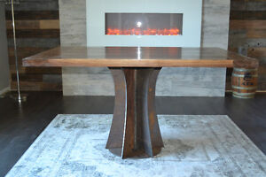WALNUT FLARE DINING TABLE - GREYWOODWORKS.COM