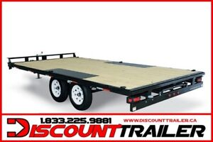 2017 Low Profile Deck Over 8.5x16 Flat Deck Trailer 10000#