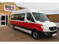2011 MERCEDES SPRINTER 316 CDI 163 TRAVELINER LWB 15 SEAT MINIBUS HIGH ROOF MINI