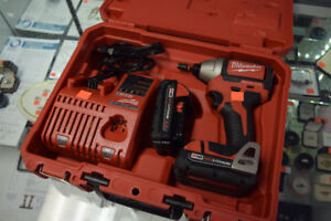 """Milwaukee 1/4"""" Hex Impact Driver + Charger/Battery/Case"""