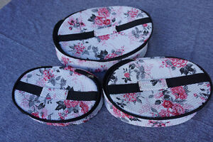 Nesting toiletry/makeup cases