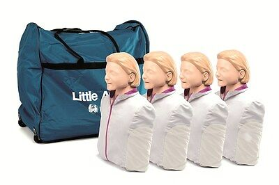 New 4 Pk Cpraed Laerdal Little Anne Manikin Soft Pack Training Mat -light Skin