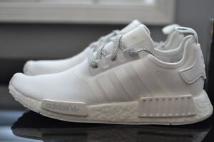 triple white adidas NMD R1 Mens size 9