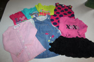 Size 12-18 month Girls clothing lot.