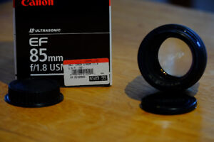 Canon EF 85mm f1.8 USM WITH B+W UV filter