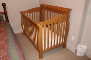Solid Maple Crib and Mattress