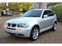 BMW X3 3.0d auto 2006MY M Sport, 106K MILES, FULL S/HISTORY, NEW MOT