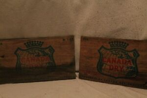 Vintage Canada Dry Crate Signs