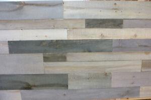Bois mural de style planche de grange