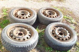 Mazda 15 rims and snow tires will fit import cars also Kitchener / Waterloo Kitchener Area image 1