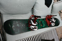 Burton Snowboard and Bindings