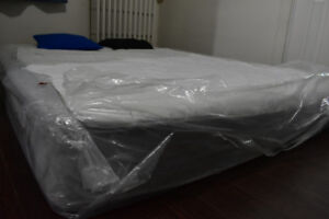 Queen size mattress (With Protection Cover....) - Like new.