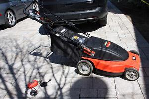 "Black & Decker Cordless Mulching Rear bag Mower - 19"""