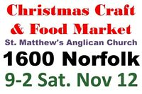 St. Matthews Anglican Church Christmas Craft and Food Market