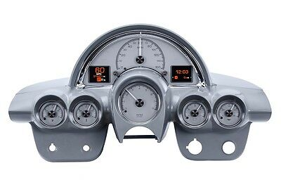 Dakota Digital 58-62 Chevy Corvette Car Custom Analog Gauge Silver HDX-58C-VET-S