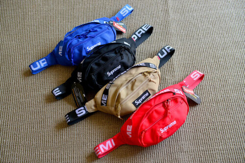 4 Color Supreme Black Waist/Shoulder Bag Fanny Pack for Women & Men Unisex -US
