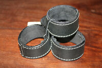 Black Leather Napkin Rings