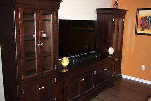 Solid Maple Custom Entertainment Unit
