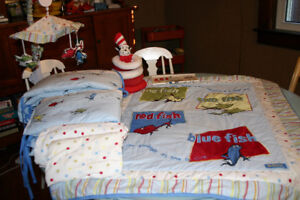 Dr Seuss nursery and crib set