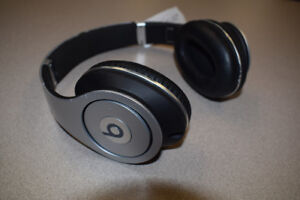 ** BEATS**  By Dr. Dre  Over Ear Headphones.  Silver