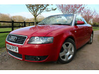 Audi A4 Cabriolet 1.8T 2004 3 OWNERS FROM NEW PR LADY STUNNING