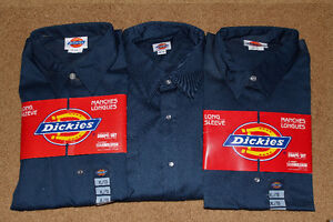 DICKIES Navy Work Pants & Long Sleeve Shirts, Brand New!