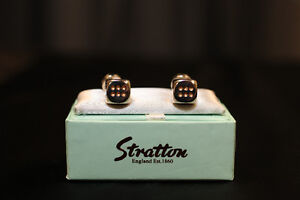 Men's Dice Cufflinks by Stratton of England