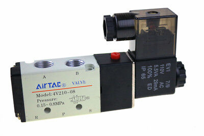 4v210-08 Air Solenoid Valves 14 2 Position 5 Port Pneumatic Control 12v