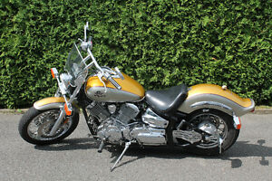 yamaha vstar1100 costum 1999 hyper chargeur,  pipe 50/50