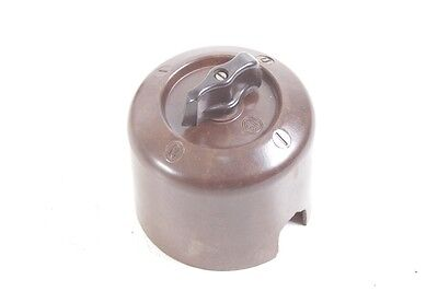 Old Bakelite Switch Rotary Switch Exposed Light Switch Ap Art Deco Rounded