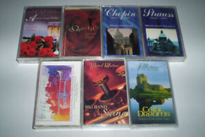 LOT OF 7 AUDIO CASSETTE TAPES