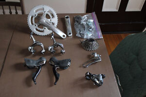 105 GROUPSET W/ upgraded DURA ACE ULTEGRA shifters compact crank