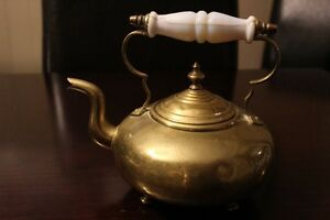Brass Tea Pot by James Clews Birmingham (J.C.B.) c early 1900's