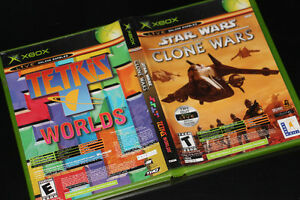 XBOX-STAR WARS THE CLONE WARS+TETRIS WORLD (GAME BOX ONLY)