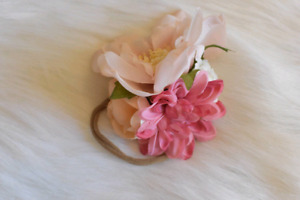 Hand-made floral headbands for your baby girl.