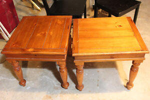 End tables (and coffee table with no legs)