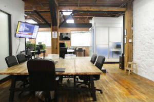 Shared Workspace in Coworking Space