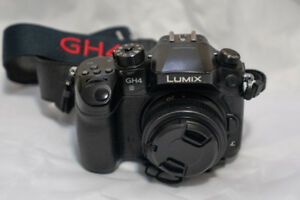 GH4 camera with prime lens 20mm f1.4. Free monopod & camera bag