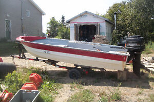 15.5 ft Larvee with 40 Mercury 4cyl 2 stroke in excellent cond.