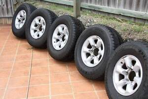 """5 x Pajero GLS 15"""" 4WD Rims & Tyres Taigum Brisbane North East Preview"""