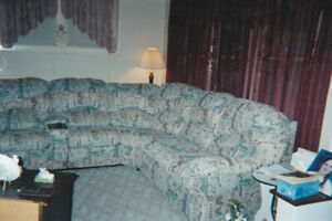 Sectional with Sofa Bed & 2 Recliners