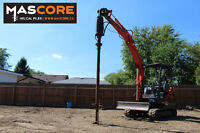 Helical Screw Piles- No More Post Holes!