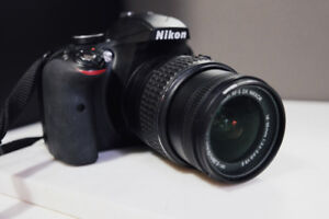NIKON D3300 with Nikkor 18-55mm and 55-200mm