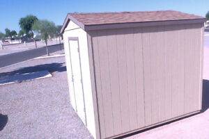 Utility shed for RV LOT